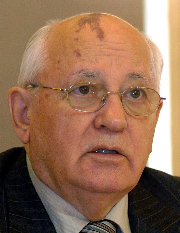 Former Russian President Mikhail Gorbach