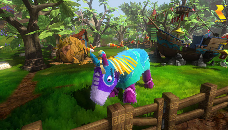 """Horstachio is just one of the colorful and loveable piñata you'll meet playing """"Viva Piñata"""" on the Xbox 360."""