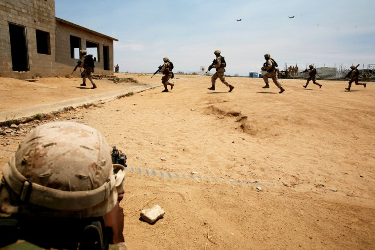 Marines Train Before Deployment To Iraq