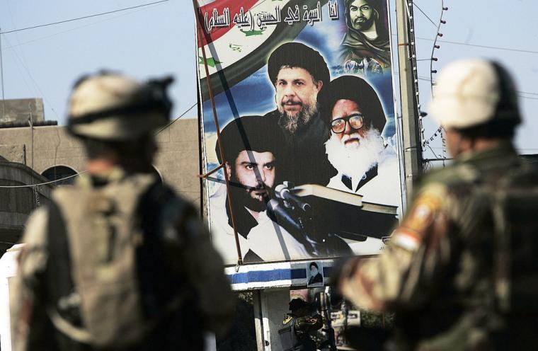 U.S. Troops Patrol Shia Khadamiyah Neighborhood In Baghdad