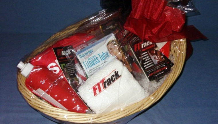A present for the plus-sized: The Fitrack gift basket can help work off those Christmas calories.