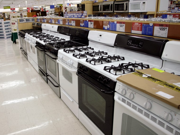 Stoves and microwaves at Kmart in Denver
