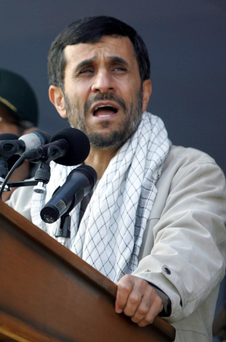 Iranian President Mahmoud Ahmadinejad ad