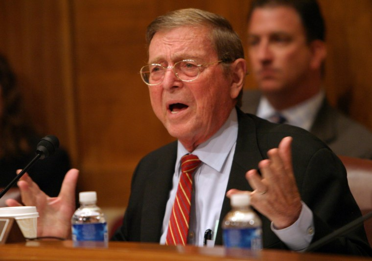 Sen. Pete Domenici presides over a September hearing on the Global Nuclear Energy Partnership before the Senate Appropriations Subcommittee on Water and Energy.
