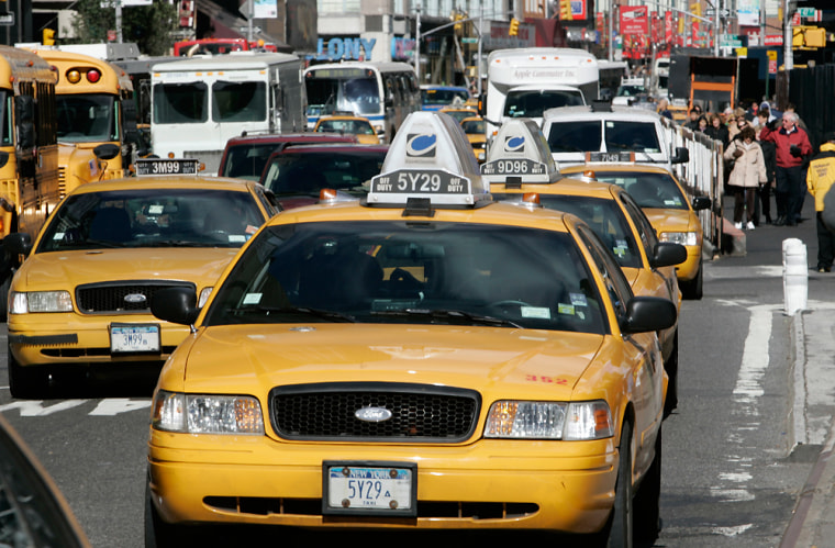 Starting just after midnight Wednesday, the fare for an average cab ride climbed by about $1 as passengers faced higher charges for time spent sitting in traffic.