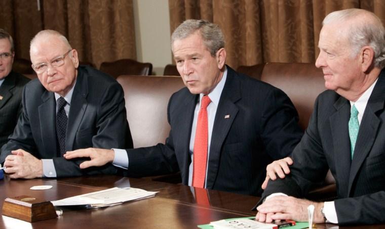 George W. Bush, Steve Hadley, Lee Hamilton, James A. Baker
