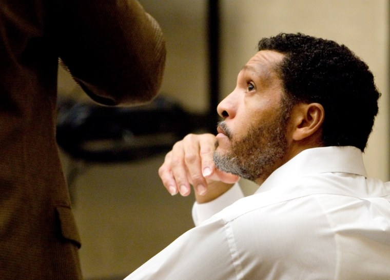 Mark Goudeau, 42, listens during his pre-trial conference on Oct. 26 at the Maricopa County Superior Court in Phoenix.
