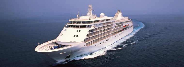 Silversea's Silver Whisper out for a cruise