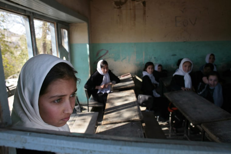 Afghan Girls Pack Schools Five Years After Fall Of Taliban