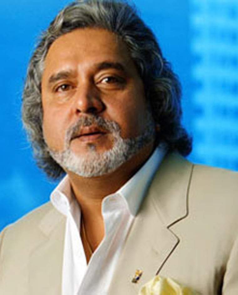 Vijay Mallya, may be the Indians' answer to Richard Branson. The liquor magnate recently started an airline.