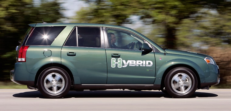The Saturn Vue Green Line hybrid, one of several 'value' hybrids to be introduced by General Motors over the next few years, costs just $1,000 more than the regular Saturn Vue.