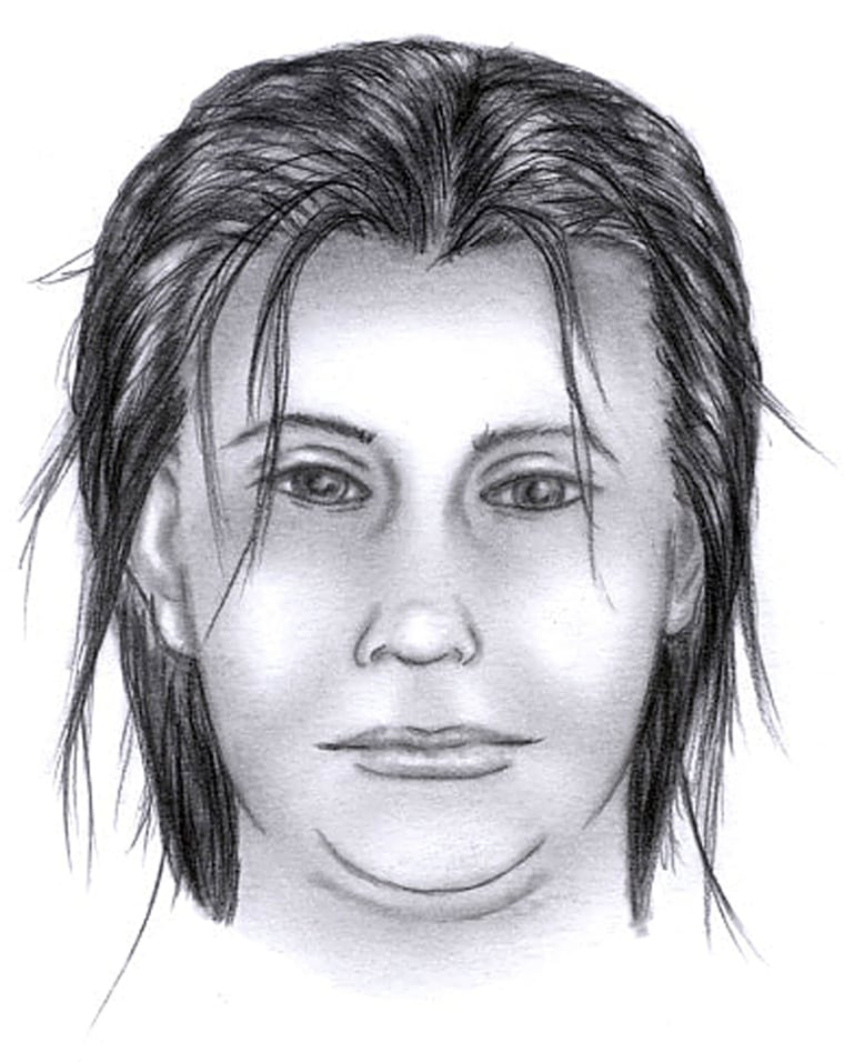 This sketch showsthe suspect in the knifepoint abduction of one-month-oldBryan Dos Santos Gomes.