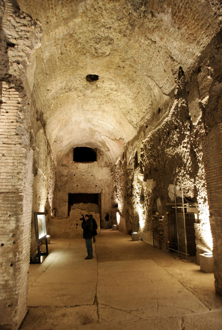 A view inside Nero's Golden Palace in Rome, Dec. 19. This 1st century palace, will be partially reopened to tourists in January.