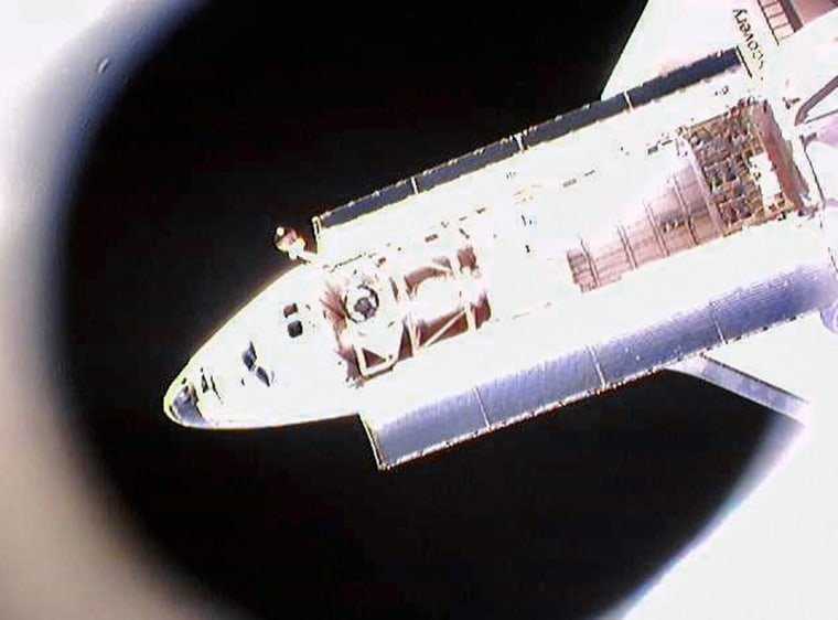 The US space shuttle Discovery is photog