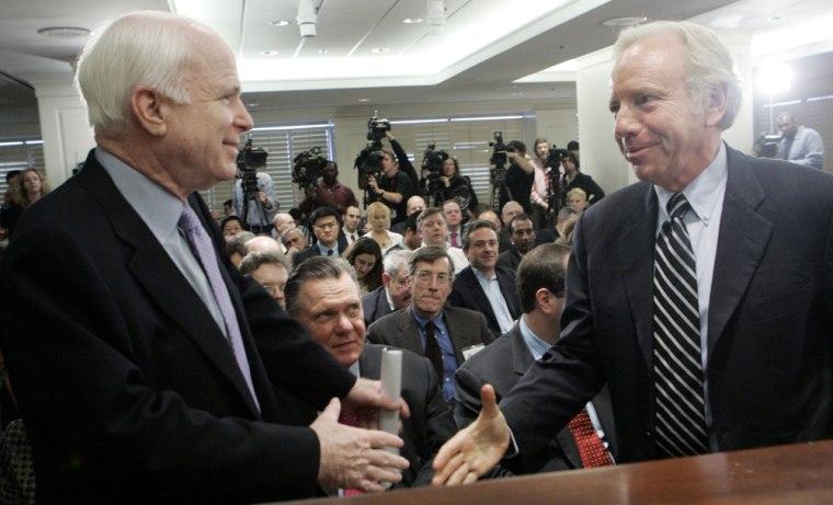 Joseph Lieberman, John McCain