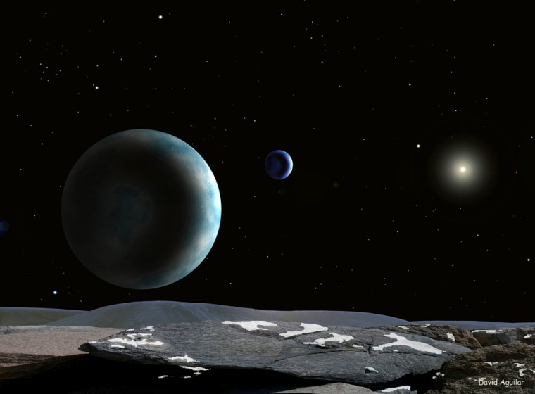 An artist's conception shows Pluto which has been stripped of its status as a planet