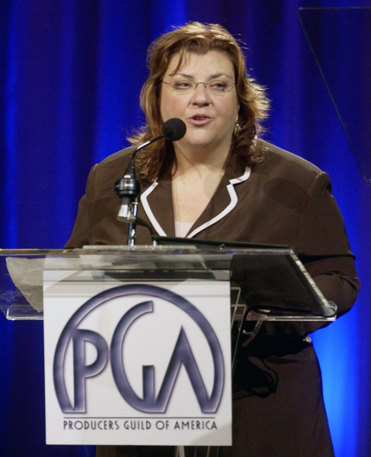 File photo of Gail Berman accepting her award at The Producers Guild of America's 3rd annual Celebration of Diversity dinner in Beverly Hills