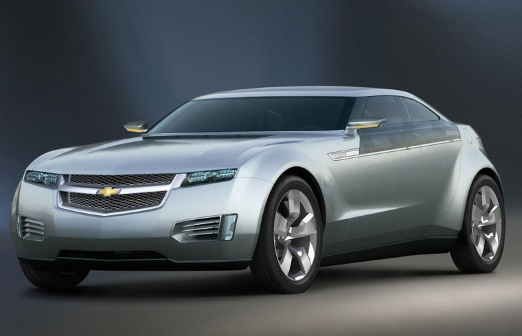 The Chevrolet Volt electric car concept is a 'radical departure' for GM says executive Bob Lutz.