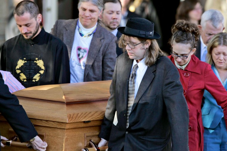 Pallbearers carry the casket of Helen Hill after funeral services Wednesday in Columbia, S.C. Hill, a South Carolina native, was shot to death by an intruder in New Orleans on Jan. 4.