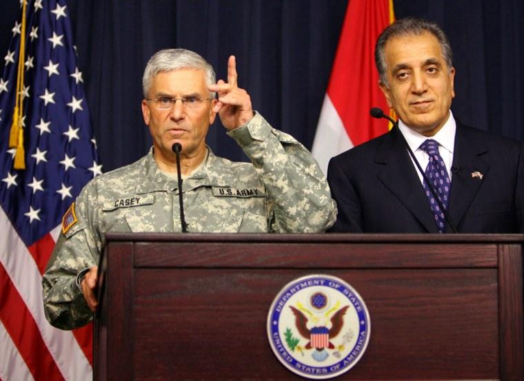 Zalmay Khalilzad, George Casey