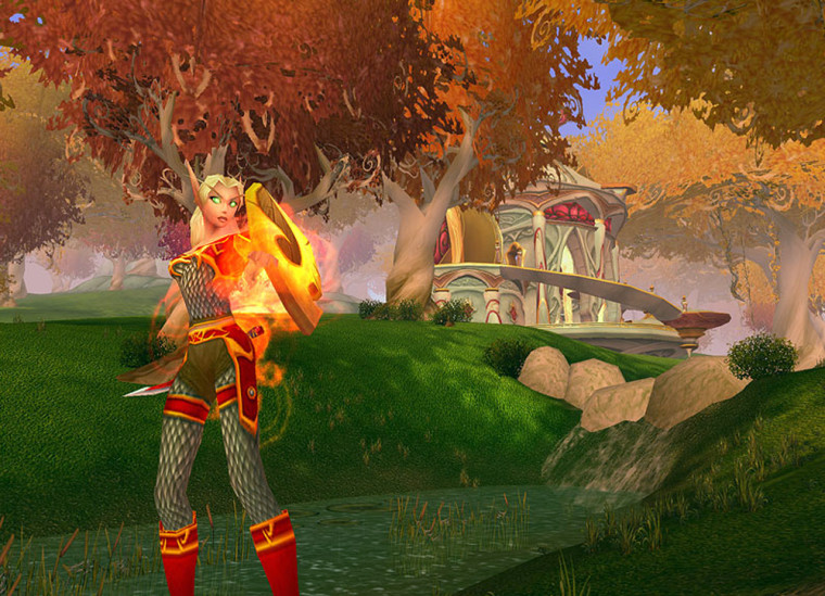 """The supermodel-vain Blood Elves are one of the two new races offered in Blizzard Entertainment's """"Burning Crusade,"""" the expansion to """"World of Warcraft."""""""