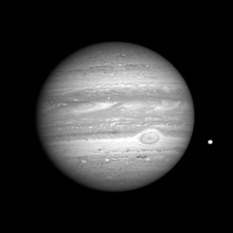 ThisJan. 8portrait of Jupiter and itsmoon Io wascaptured by the New Horizons probe'sLong Range Reconnaissance Imager while the spacecraft was about 50 million miles (81 million kilometers) from the giant planet.