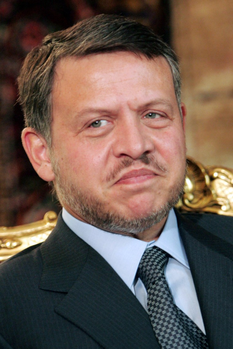 King Abdullah II of Jordan is pictured d