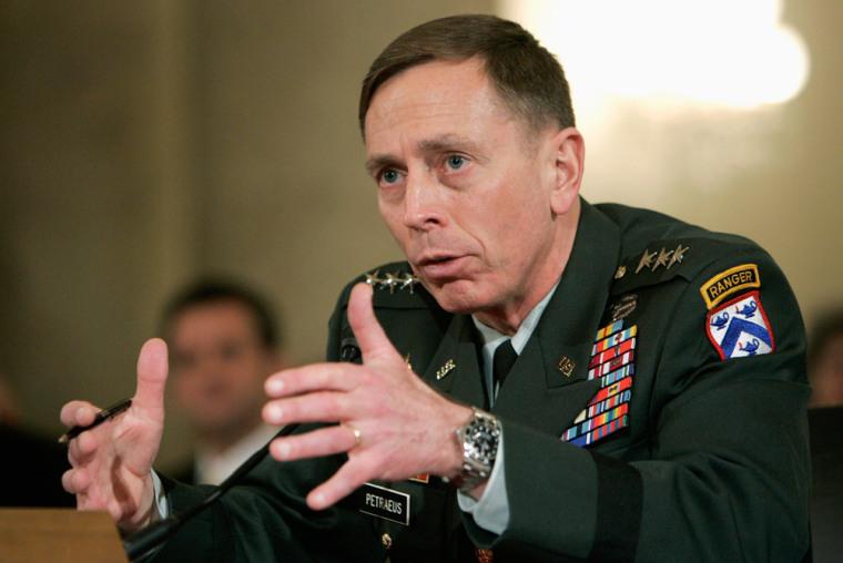 Petraeus testifies to the Senate Armed Forces Committee in Washington