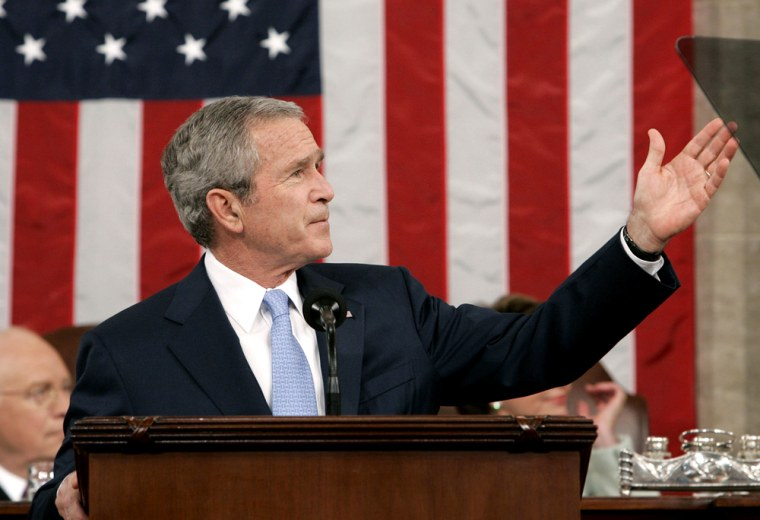 US President George W. Bush delivers the