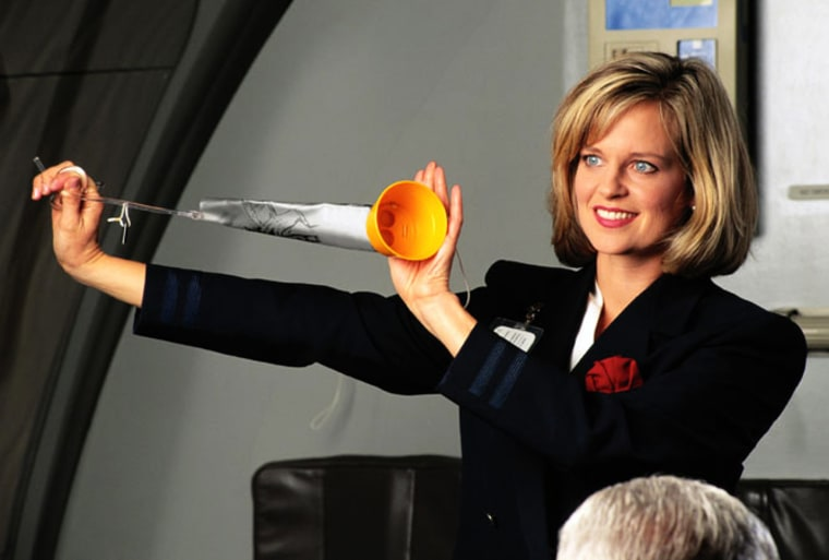 Every traveler has heard the famed airline safety demonstration. While it's important to keep safety in mind, it's OK to enjoy the humorous aspect of the presentation, too, columnist and flight attendant James Wysong writes.