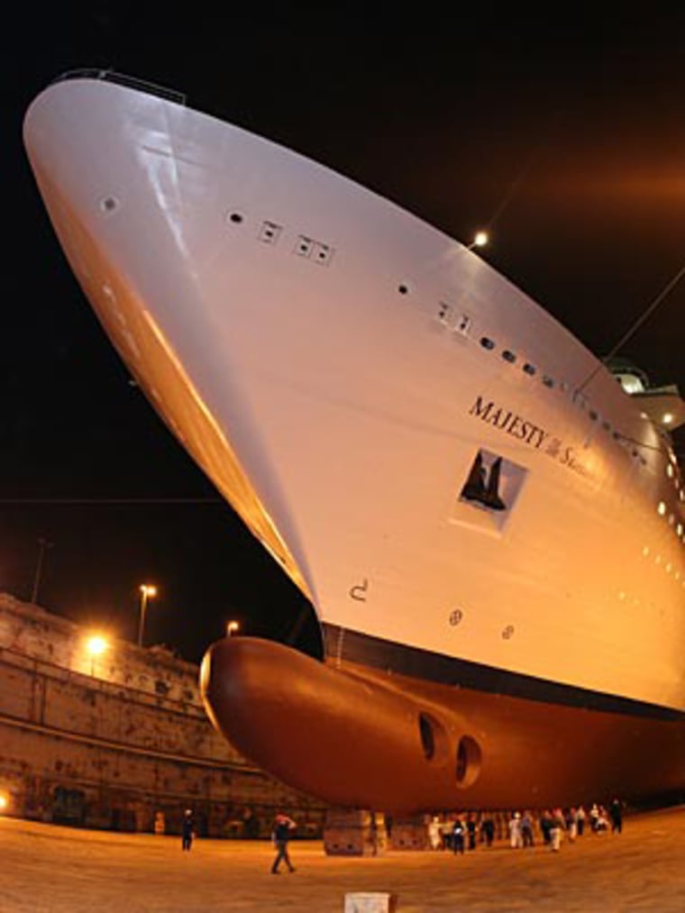 One thousand workers had 28 days to give the Majesty of the Seas a complete makeover.