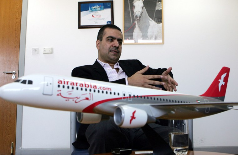 Adel Ali, chief executive of Air Arabia, speaks at the airline's office in Sharjah, United Arab Emirates, during an interview last month. Gulf Arab countries have become the latest global stronghold for no-frills budget airlines that have transformed air travel in Europe and America.