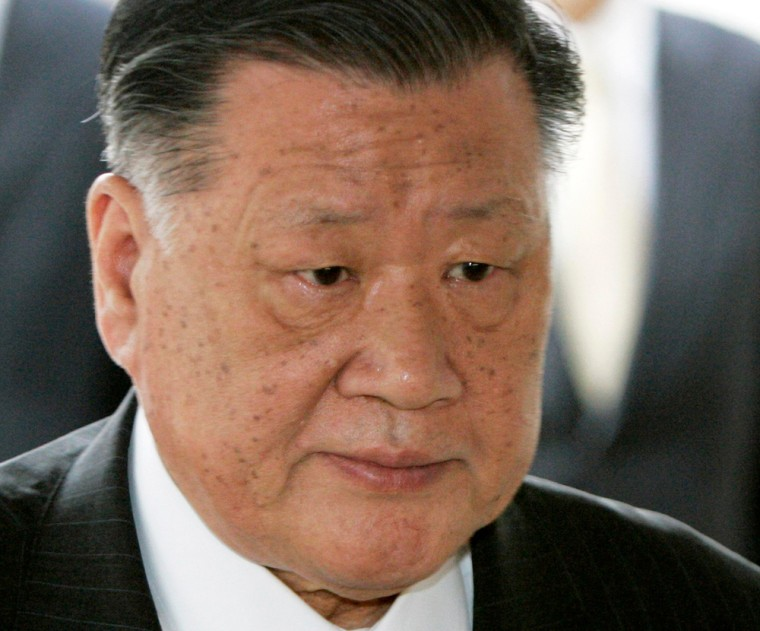 File photo of Hyundai Motor chairman Chung Mong-koo arriving for his trial at the Seoul Central District Court in Seoul