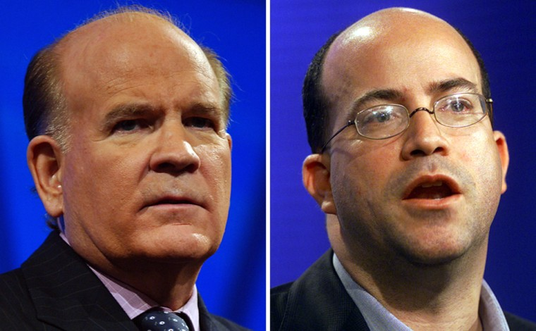 """Bob Wright, left, CEO of NBC Universal for the past 21 years, will be succeeded by Jeff Zucker, former """"Today"""" show executive, this week, the Los Angeles Times reported."""