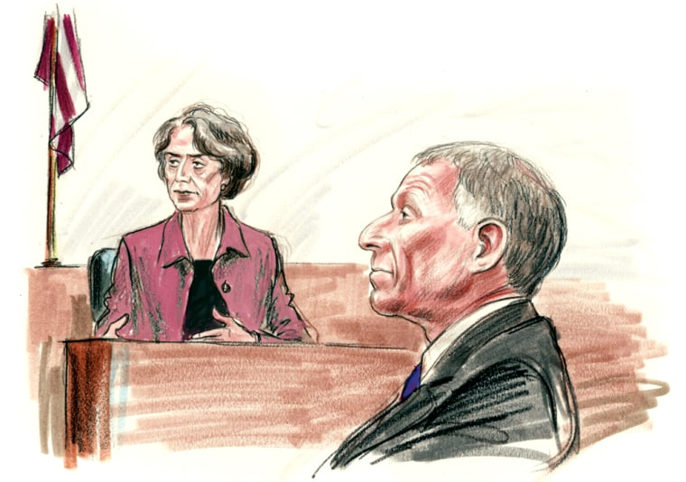 "I. Lewis ""Scooter"" Libby at his perjury and obstruction trial Monday in Washington."