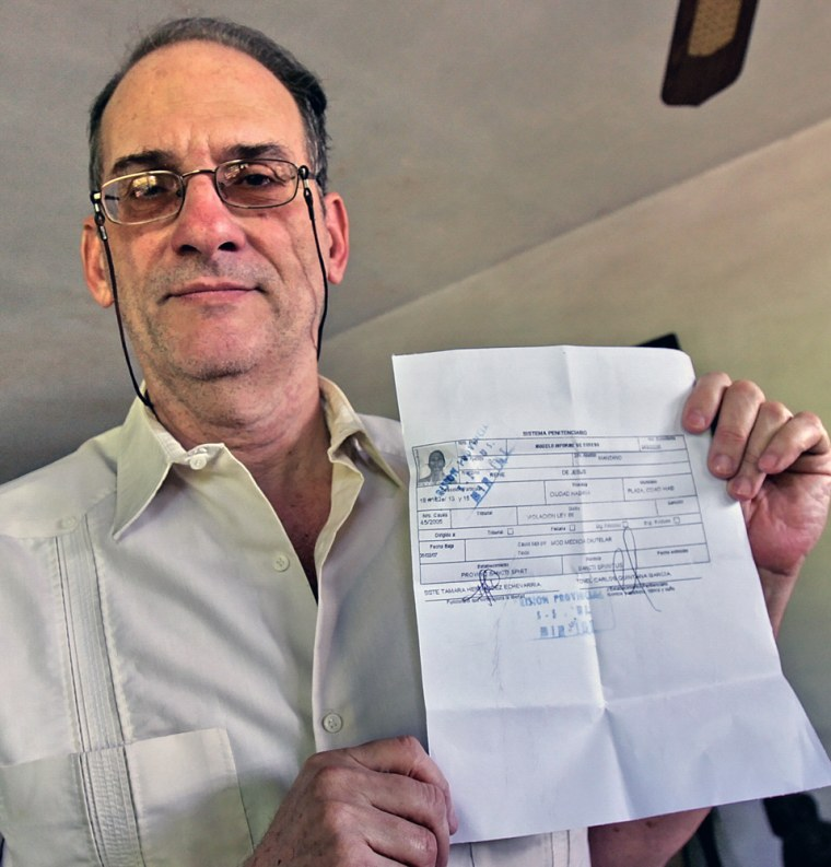 Cuban disident Rene Gomez Manzano, (63),