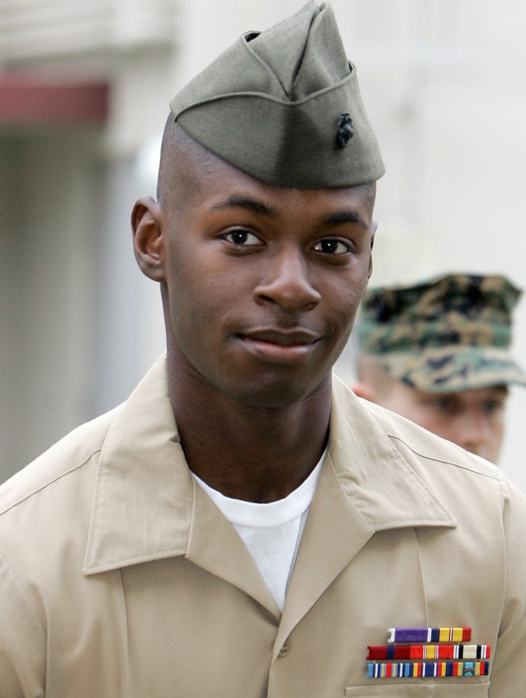 Marine Corps Cpl. Trent Thomas is seen at Camp Pendleton, Calif., in November.