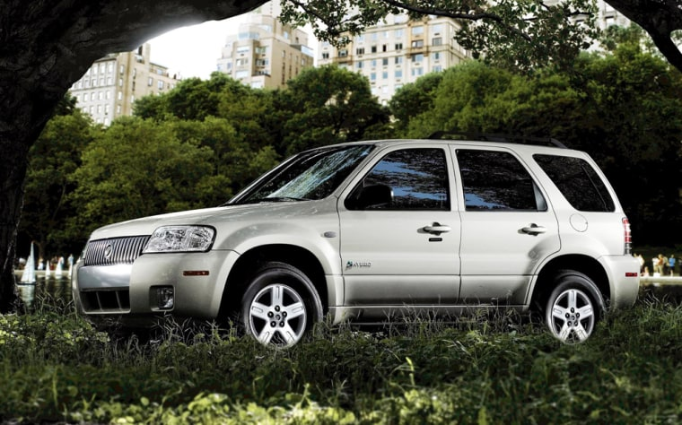 An increasing number of environmentally minded companies outside the auto sector, like Bank of America and Google, are offering employees a bonus for buying hybrids like this 2007Mercury Mariner.