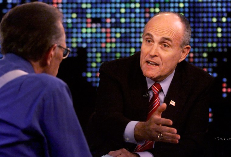 Former New York city mayor Giuliani announces that he is a candidate for president of the United States on Larry King Live