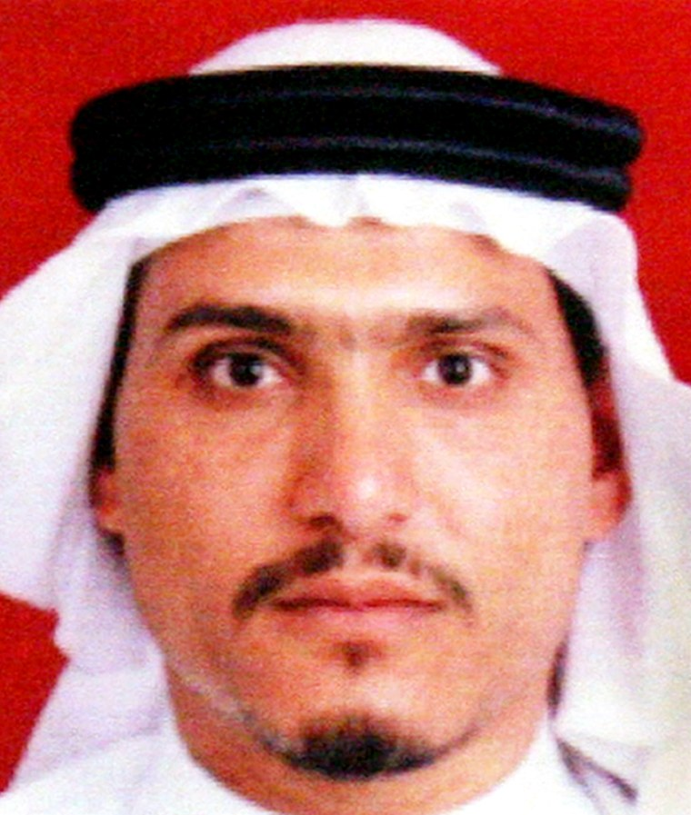 Thisphoto released by the U.S. military in June 2006 purports to show Abu Ayyub al-Masri, the leader of al-Qaida in Iraq.
