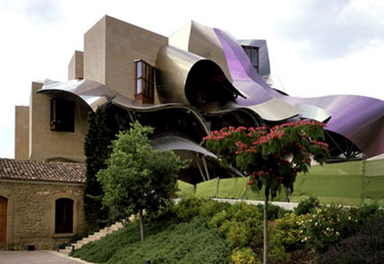 The Hotel Marqués de Riscal in Elciego, Spain gives you a rare chance to stay inside a work of modern art. Just don't expect too many right angles in the 41 rooms.