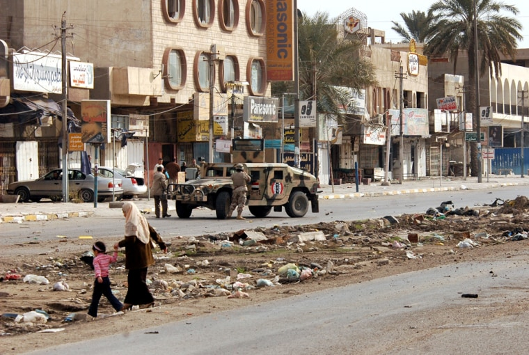 This mixed Sunni-Shiite neighborhood in western Baghdad is among those on edge due to sectarian violence.