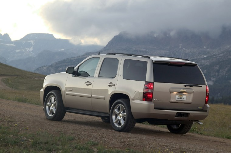 Reports say Chrysler and GM have held discussions related to developing a large sport utility vehicle, such as the Chevrolet Tahoe shown here, which Chrysler doesn't have in its currentlineup.