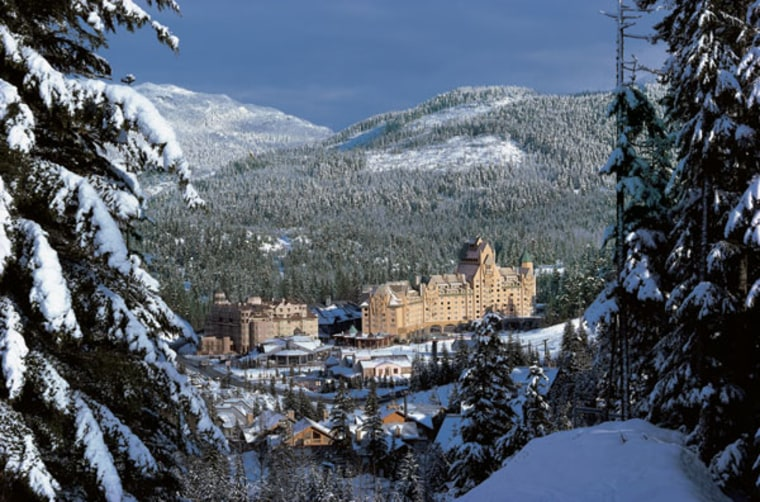 The Fairmont Chateau Whistler, situated at the base of Blackcomb Mountain in British Columbia, is consistently rated North America's best ski destination.