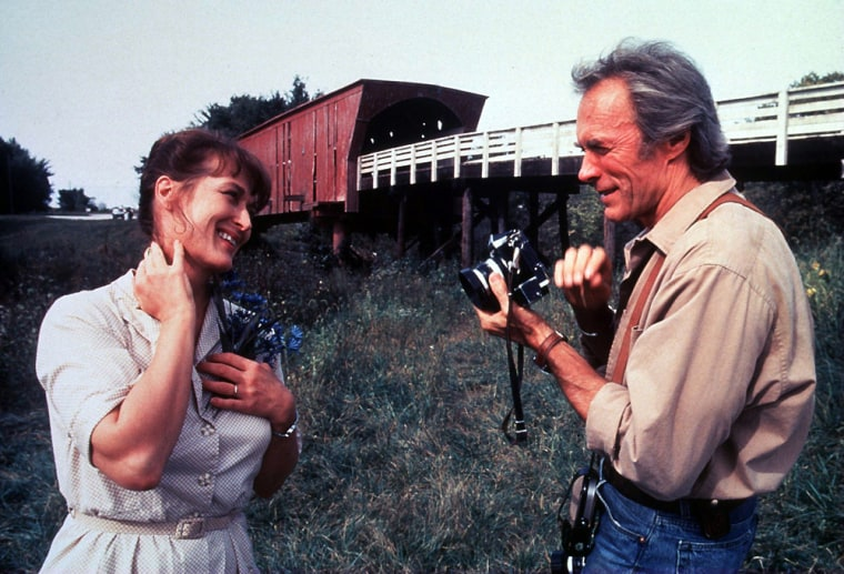 """Clint Eastwood and Meryl Streep star in the romantic drama """"The Bridges of Madison County."""""""