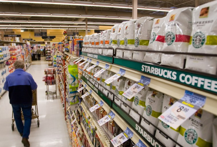 Starbucks is looking to fill up a lot more aisles in your local megamart — and many other locations.