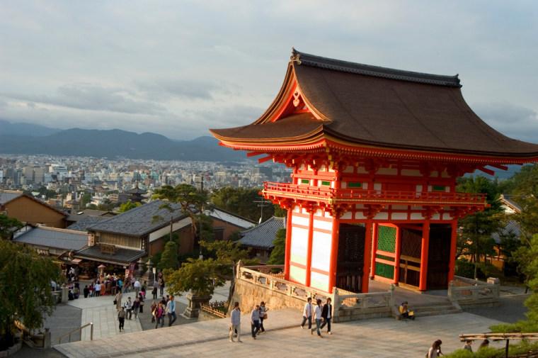 Visitors to the Kiyomizu-dera Temple