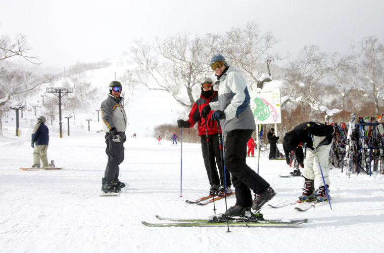 Skiers enjoy the slopes of Niseko's 1,308-meter (3,924-foot) Mount An'nupuri. American skiers have the Rockies, Europeans the Alps. But for increasingly affluent Asia, Japan's powdery slopes are emerging as the top international draw from Shanghai to Sydney.