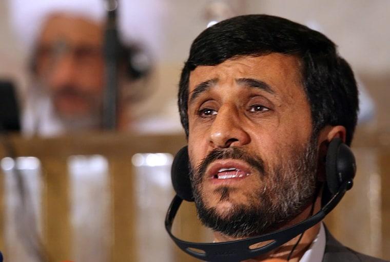 Iranian President Mahmoud Ahmadinejad de