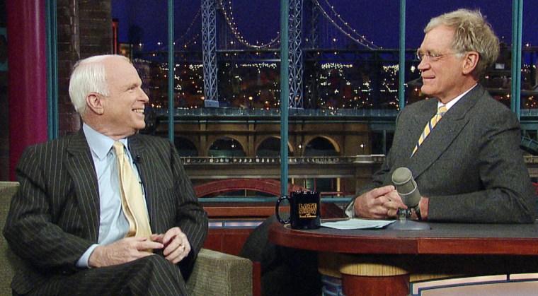 John McCain, David Letterman